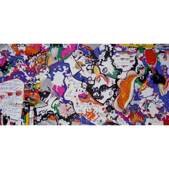 viduryje, nieko, visi, pamatys, viska, grafika, paveikslas, grafikos, abstrakcija, akriline tapyba, menas, gediminas bytautas