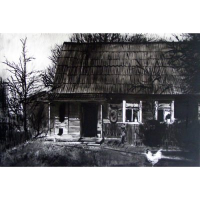 tapyba, paveikslas, paveikslai, sena sodyba, painting to order, old homestead