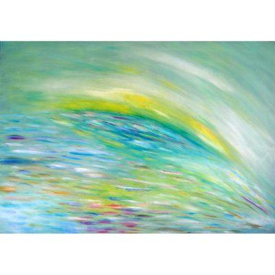 vasara, abstraktus, paveikslas, paveikslai, menas, abstrakcija, aliejine tapyba, gediminas bytautas