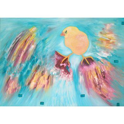 chick, painting, oil paintings, art, abstract, animals, chicken, gediminas bytautas
