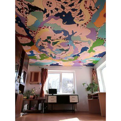 sienų tapyba, lubos, freska, wall painting, gediminas Bytautas