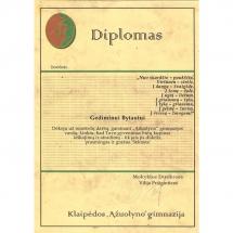 Ąžuolyno gimnazija, vardo garsinimas, diplomas, kūrybą, Gediminas Bytautas