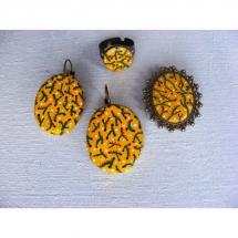 auskarai, sagė, žiedas, papuošalai, priderinti, tapyba, originalūs, papuošalų gamyba, komplektas