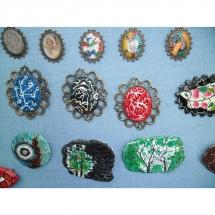 žalvarinės sagės, papuošalai, sagės, rankų darbo, papuošalų gamyba, meno kursai, sagė, tapyba, dekupažas