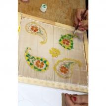 Šilko tapyba, tapyba ant šilko, šilkas, meno kursai, tapybos pamoka, tapymas, silkas, silko, silk,, ornamentas, ornamentai
