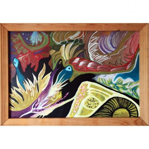 naktis, nezinomoje planetoje, moderni tapyba, originali, paveikslas, paveikslai, menas, abstrakcija, abstrakti tapyba, planetoje, nezinomoje