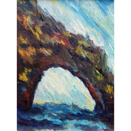 juros arka, arka, juros, marinistinis, marinistinis paveikslas, aliejumi tapytas paveikslas, paveikslai, paveikslas, menas, tapyba