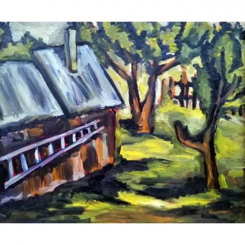 kopecios prie kalves, kopecios, kalves, kalve, paveikslai, paveikslas, tapyba, menas, aliejine tapyba, odile norvilaite, kalve