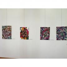 vibracija, grafikos paveikslai, Gediminas Bytautas, paveikslai, Kretingos muziejus, menas, paroda, ekspozicija, grafika