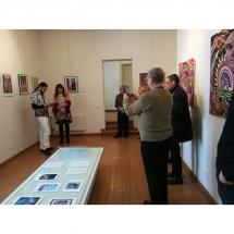 Kretingos muziejus, paroda, vibracija, Gediminas Bytautas, Odile Norvilaite, bytautiene, ekspozicija, parodos atidarymas, menas, paveikslai