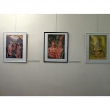 paveikslai, menininke, odile Norvilaite Bytautiene, tapyba, menas, ekspozicija, paroda, vibracija, Kretingos muziejus