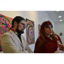 menininku duetas, menininkai, duetas, Gediminas Bytautas, Odile Norvilaite, Bytautiene, paroda, ekspozicija, Kretingos muziejuje