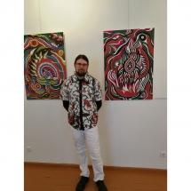Gediminas Bytautas, grafika, paveikslai, poetas, dailininkas, menas, Kretingos muziejus, ekspozicija