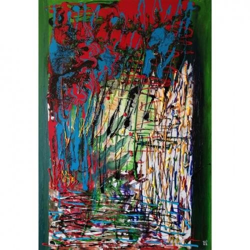 langas, langas i gamta, gamta, urbanistineje, galaktikoje, kitoje, tapyba, menas, aliejine tapyba, abstrakcija, abstrakti tapyba, gediminas bytautas