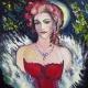 vakaro angelas, vakaro, angelas, aliejine tapyba, aliejumi tapyti paveikslai, paveikslai, paveikslas, tapyba, menas, Odile Norvilaite