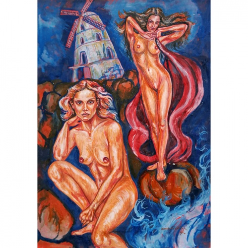 malunininkes, erotika paveiksluose, erotika, paveikslai, paveikslas, erotinis paveikslas, erotiniai paveikslai, erotika mene, menas, nuoga, nuogos, nuogos moterys, Odile Norvilaite, zmones, moterys