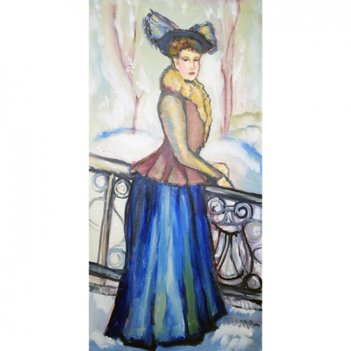 countess waiting for spring, countess, waiting, spring, waiting for spring, oil painting, oil, art, paintings, painting, women, people, Odile Norvilaite, Odile bytautiene