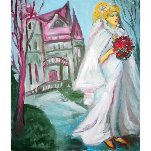 Liepaja, Liepaja manor, manor, manor bride, bride, oil painting, paintings, painting, oil art, oil art painting, women, Odile norvilaite bytautiene