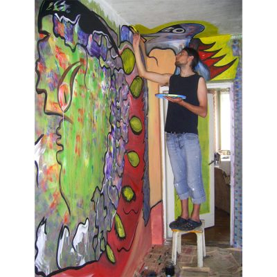 Sienų tapyba, sienų dekoravimas, koridorius, tapyba. wall paintings