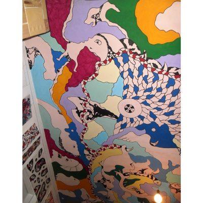 Sienų dekoravimas, abstrakcija, tapyba, wall paintings