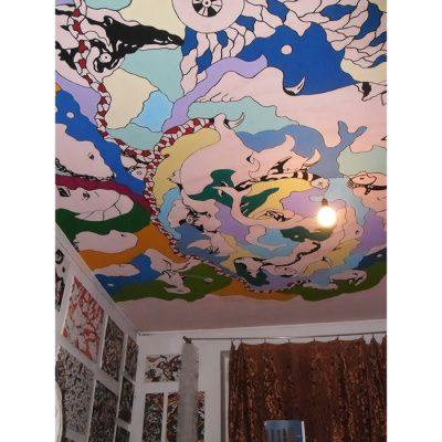 Sienų tapyba, sienų dekoravimas, abstrakcija, lubos, wall paintings