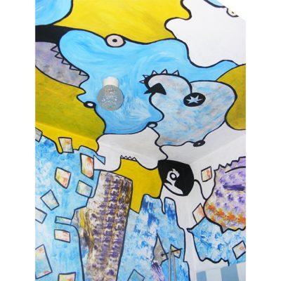 Sienų tapyba, sienų dekoravimas, vonia, tapyba, wall paintings