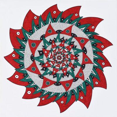 mandala, ornamentinis, menas, abstraktus, abstrakcija, paveikslas, paveikslai, gediminas bytautas