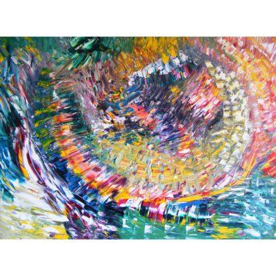 tapyba, drakono glebyje, paveikslas, paveikslai, abstrakcija, fantastiniai, menas, gediminas bytautas
