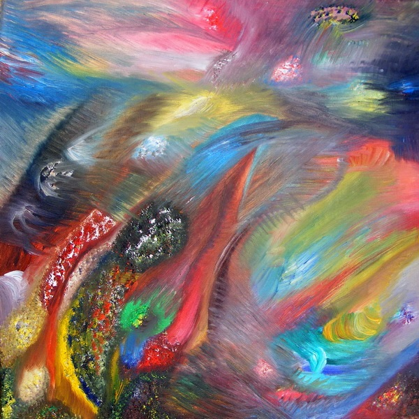 aliejine tapyba, pasaulių kaita, paveikslas, paveikslai, menas, abstrakcija, fantastiniai, gediminas bytautas