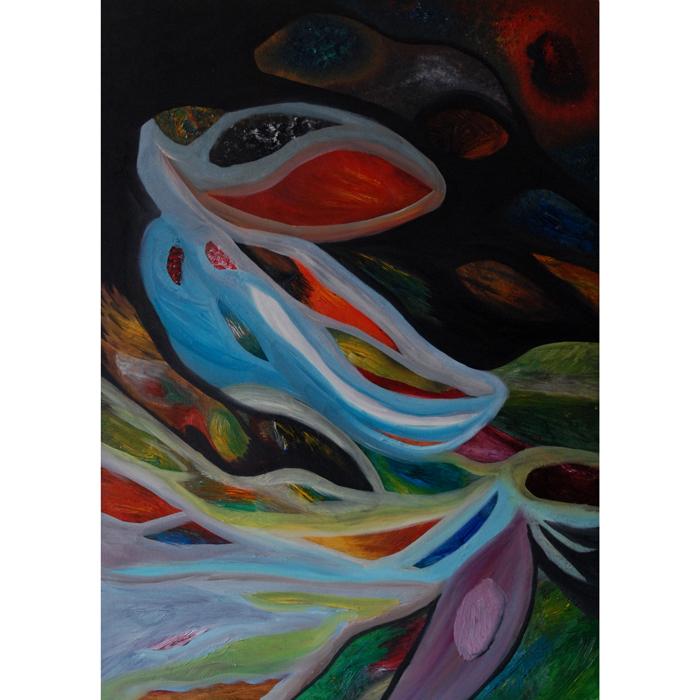 ziedas, aliejine, aliejines, tapyba, tapybos, menas, abstrakcija, paveikslas, paveikslai, gediminas bytautas