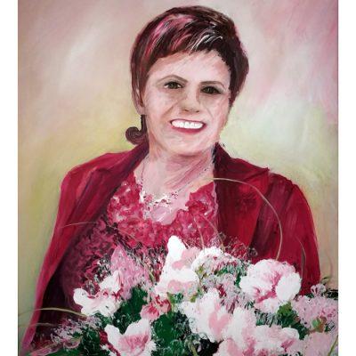 Moters portretas, paveikslas, paveikslai, women portrait, painting