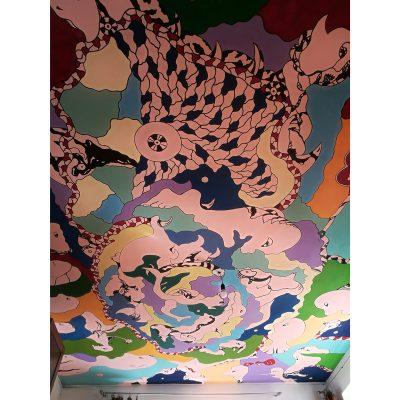 sienų tapyba, freskos, lubos, wall painting, Gediminas Bytautas
