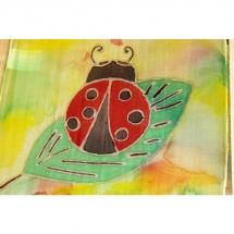Šilko tapyba, tapyba ant šilko, šilkas, meno kursai, tapybos pamoka, tapymas, silkas, silko, silk, boružė, boružėlė
