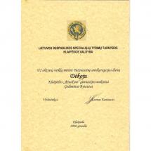 padėka, aktyvi, kūrybinė veikla, tarptautinė antikorupcijos diena, Gediminas Bytautas