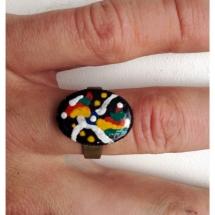Rabkų darbo žiedas, ziedas, žiedai, papuošalai, papuošalas, meno kursai, tapyba
