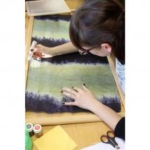 batika, šilko tapyba, tapyba ant šilko, šilkas, meno kursai, tapybos pamoka, tapymas, silkas, silko, silk