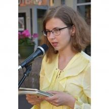 Žurnalistė, poetė, Eligija Barkutė, poezija, vidurvasario, poezijos, skaitymai, Klaipėdoje, Klaipėda