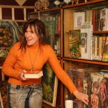 dailininkė, ragana, ekstrasensė, būrėja, Odilė Norvilaitė, šamanė, paveikslai, menas, tapyba