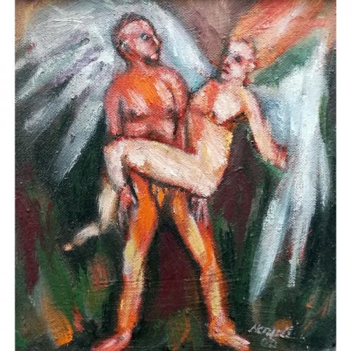 antskrydis, erotika, erotine, angelas, tapyba, paveikslas, paveikslai, menas, odile norvilaite, bytautiene
