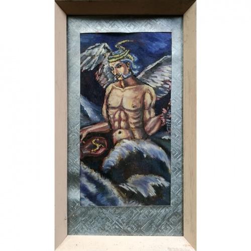 bangputys, guasas, popierius, fantastinis paveikslas, tapyba, menas, angelas, odile norvilaite, bytautiene