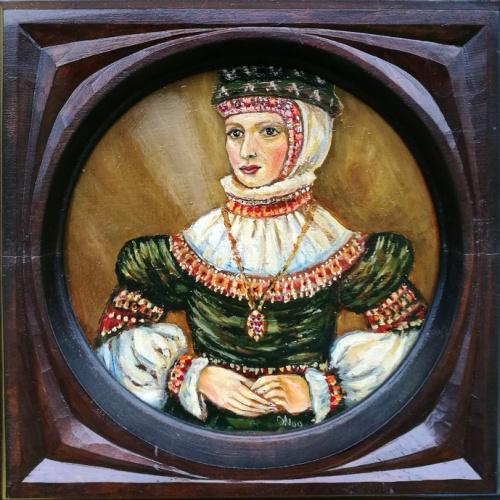 barbora radvilaite, historic painting, poland queen, oil paintings, art, people, miniature, odile norvilaite, bytautiene