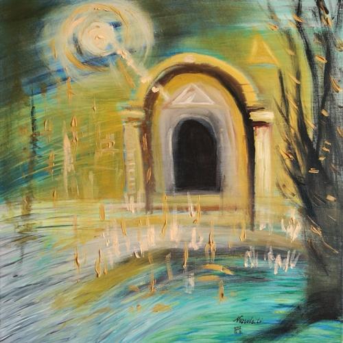 dievo vartai, dievo, vartai, tapyba, aliejinė tapyba, menas, paveikslas, paveikslai, dangaus vartai, porta coeli