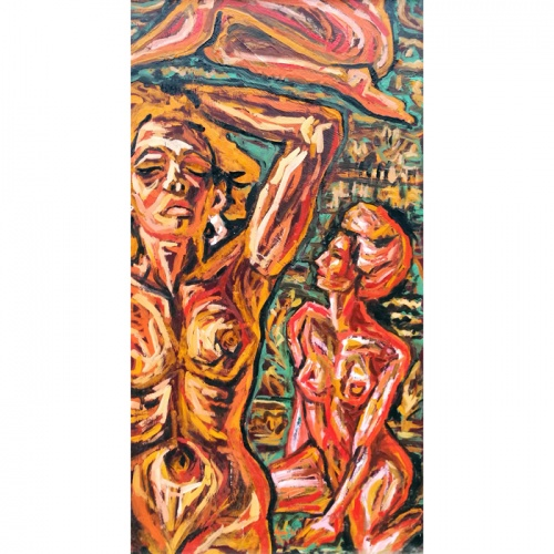 idlers, true erotica, erotica, erotic, oil painting, paintings, art, original, odile norvilaite, bytautiene