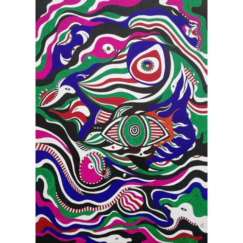 mythological metamorphosis, mythological, metamorphosis, graphic painting, paintings, original art, art, abstraction, abstract, gediminas bytautas