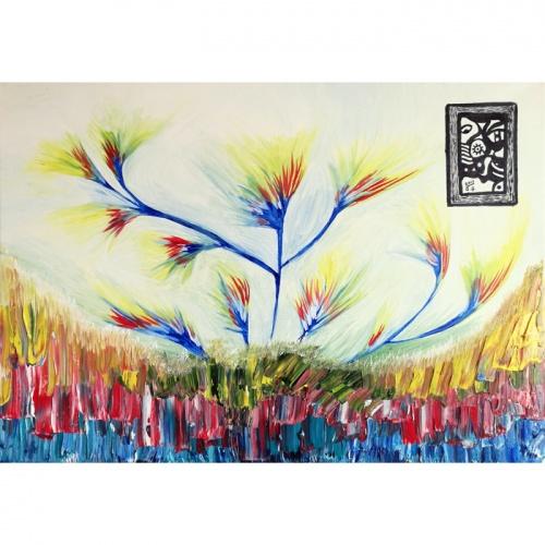 paveikslas paveiksle, paveikslas, paveiksle, aliejine tapyba, abstrakcija, abstrakti tapyba, menas, gediminas bytautas