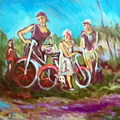 Kaimo vaikai, paveikslai, kaimo, vaikai, aliejumi tapytas paveikslas, vaikų paveikslai, menas, tapyba, paveikslas, su vaikais