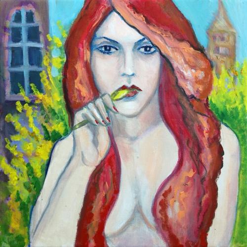 milda, love godess, love, godess, erotica, erotic, erotic oil painting, erotic paintings, art, original art, women, girl, sexual