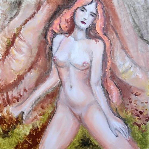 pavasario sula, pavasario, sula, erotine tapyba, paveikslas, erotinis paveikslas, erotika, erotinis, paveikslai, tapyba, menas, mergina, moteris, zmones, Odile Norvilaite
