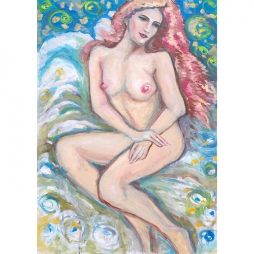 atsipalaidavimas, erotika, erotine tapyba, tapyba, aliejine tapyba, aliejumi tapyti paveikslai, menas, nuoga, zmones, erotinis menas