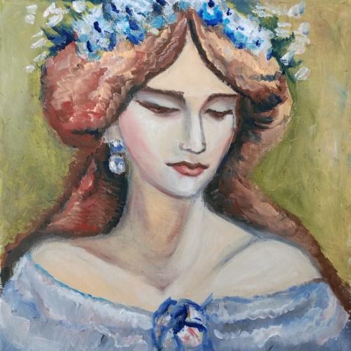 karaliene, monmarta, aliejine tapyba, tapyba, aliejumi tapytas paveikslas, paveikslai, paveikslas, menas, moteris, zmones, paveikslas ant drobes, portretai, portretas